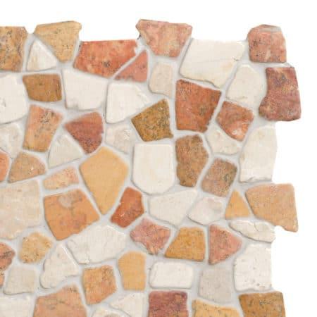 Mosaic Terra-White marble 300x300mm