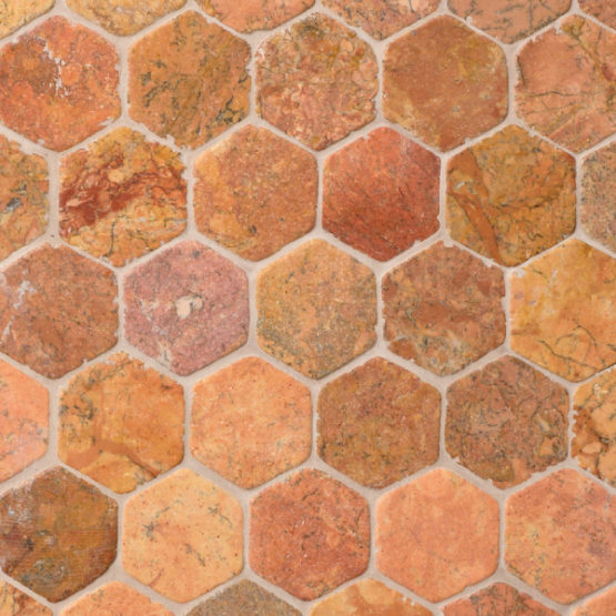 Hexagon Terra marble, 60x60mm