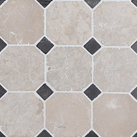 Classic Pattern White-Grey, 100x100mm