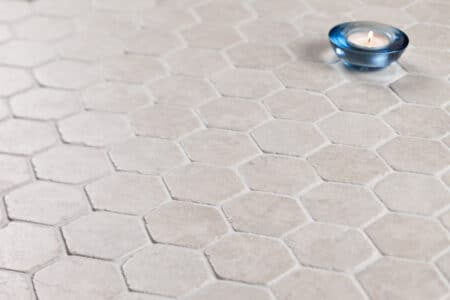 Hexagon White marble, 60x60mm