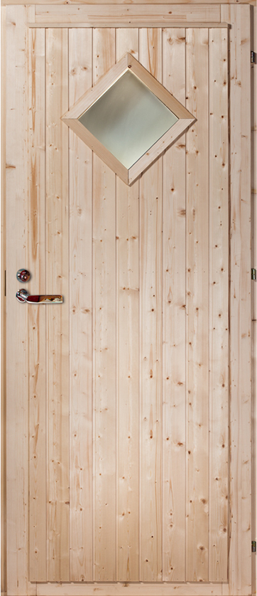 Exterior door Pine/Spruce ('Diamond' with window)