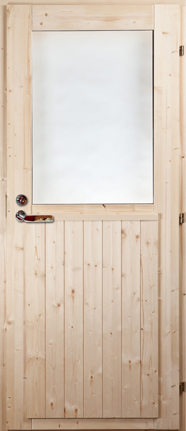 Exterior door Pine/Spruce (with window)