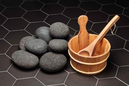 Lava sauna heater stones 10-15cm, 1kg