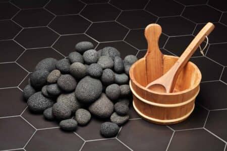 Lava sauna heater stones 5-10cm, 20kg